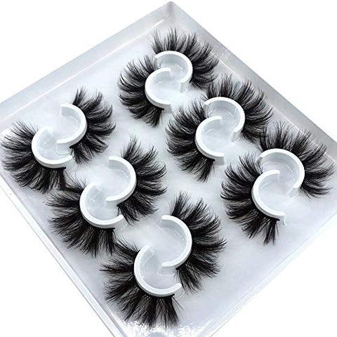 6 Pairs Fluffy Eyelashes Natural Mink Strip 3D Lashes Pack