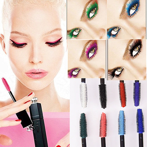 8 Colors Mascara 3d Fiber Professional Makeup