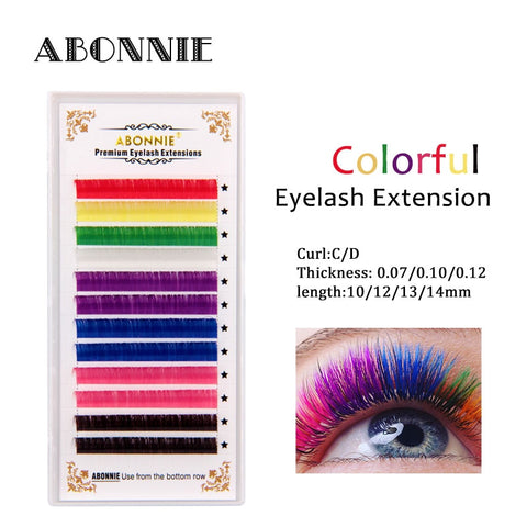 Rainbow Colored Eyelash Extension