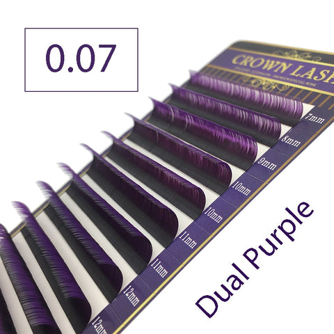 Ombre Purple Purple Volume Lash extension