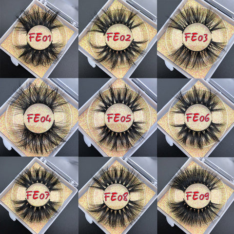 Luxury 25mm Siberian Mink Eyelash Strips