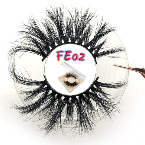 Mikiwi FE Series 25mm False Eyelashes Thick Strip 25mm 3D Mink Lashes