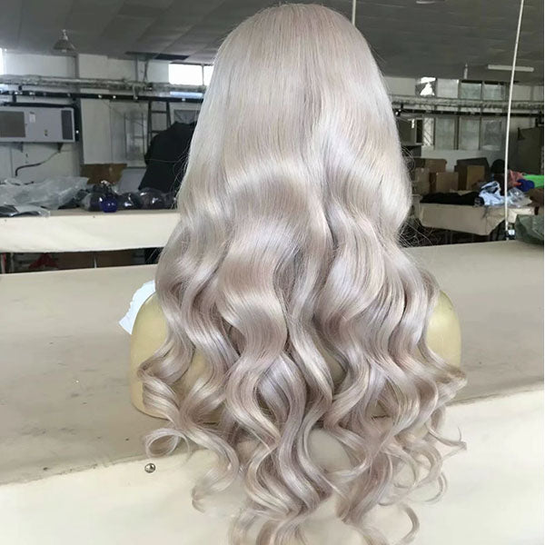 Silvery Grey Loose Wave Lace Wig 150% Density