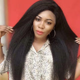 Kinky Straight Lace Wig Natural Color 150% Density