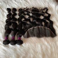 9A Loose Wave Bundles And A HD Frontal