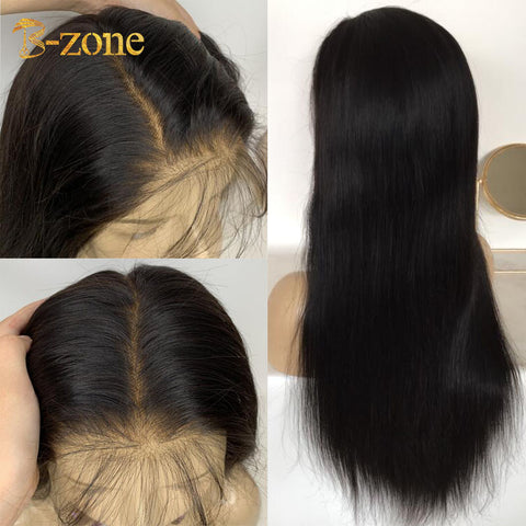 Pre-Made Fake Scalp Wig Raw Indian Virgin Hair Lace Front Wig