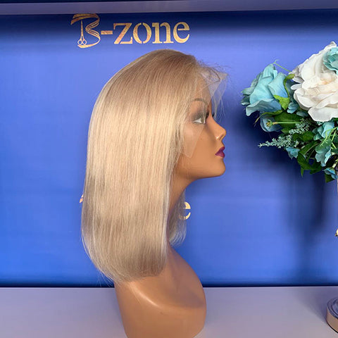 Platinum blond Bob Lace Wig 150% Density