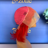 Red Bob Lace Wig 150% Density