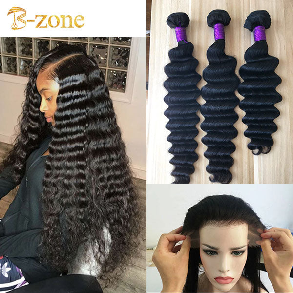 Deep wave 3 bundles with matching HD Lace Frontal 13x4