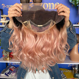 Siliver Pink Lace Wig 150% Density