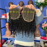 Spanish Curly HD High Definition Swiss Lace Closure