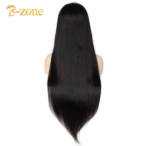 "Pre-Made Fake Scalp Wig Virgin Hair 13""x6"" Long Parting Space Lace Front Wig"