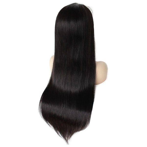 Straight 5 ×5 Lace Closure Wig Natural Color 150% Density