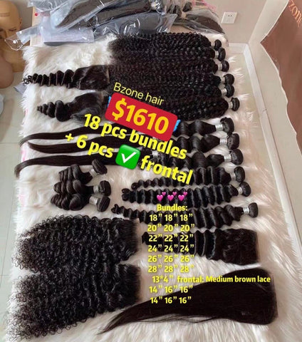 $1610 Deal 18pcs bundles and 6pcs HD frontal