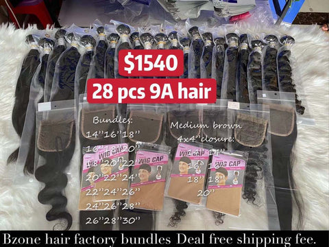 $1540 Deal 21pcs 9A bundles and 7pcs 4x4closure