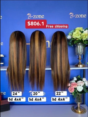 $806.1 Deal 3pcs 4x4 HD wig
