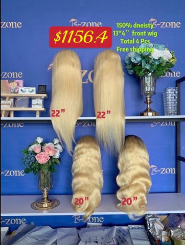 $1024 Deal 2pcs 13x4 frontal wig ST 613 and 2pcs 13x4 frontal wig BW