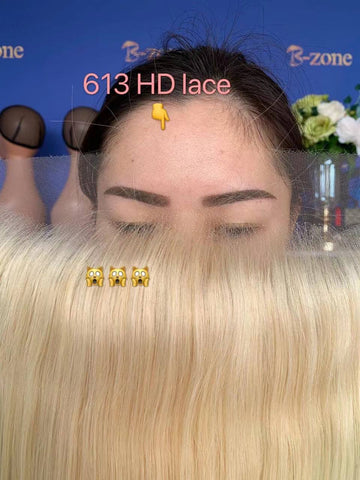 straight 613 HD lace frontal 13x4