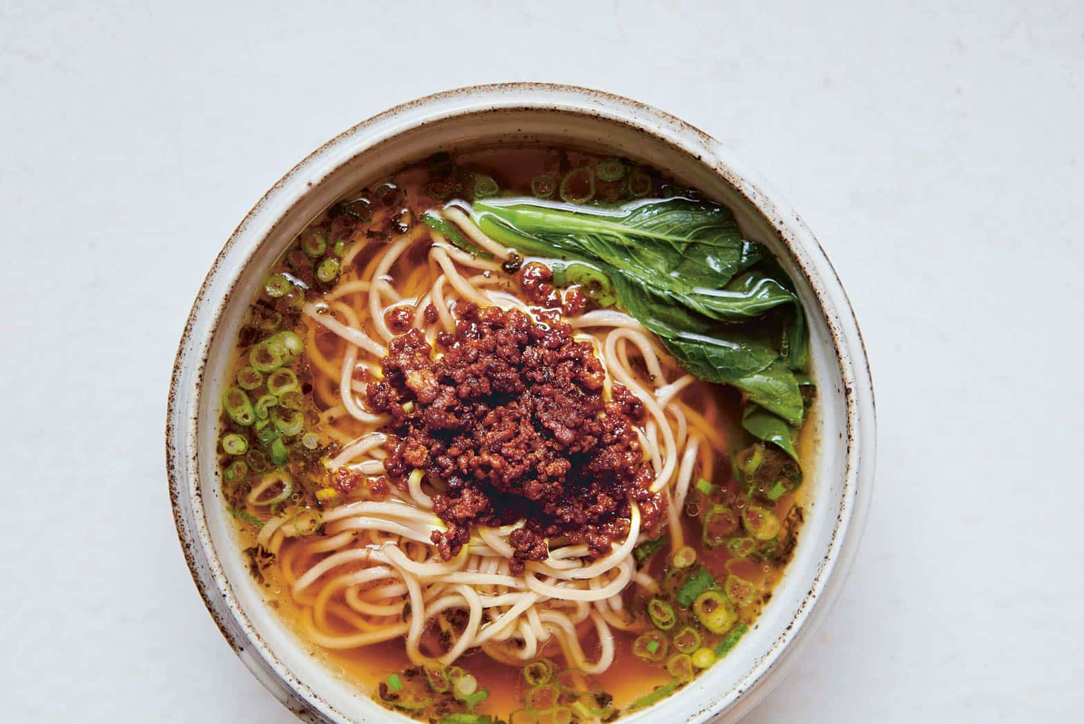How to make Sichuan soup noodles with minced pork topping