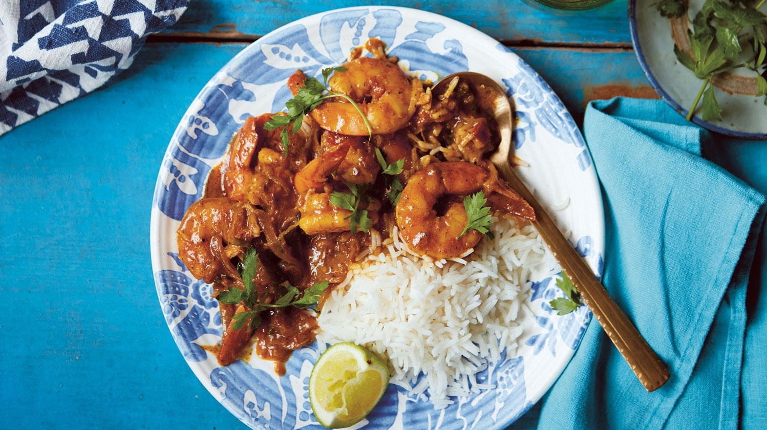 King prawns with tamarind & coconut