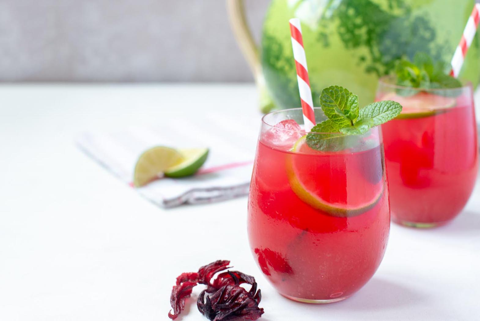 Hibiscus & Watermelon Agua Fresca Recipe