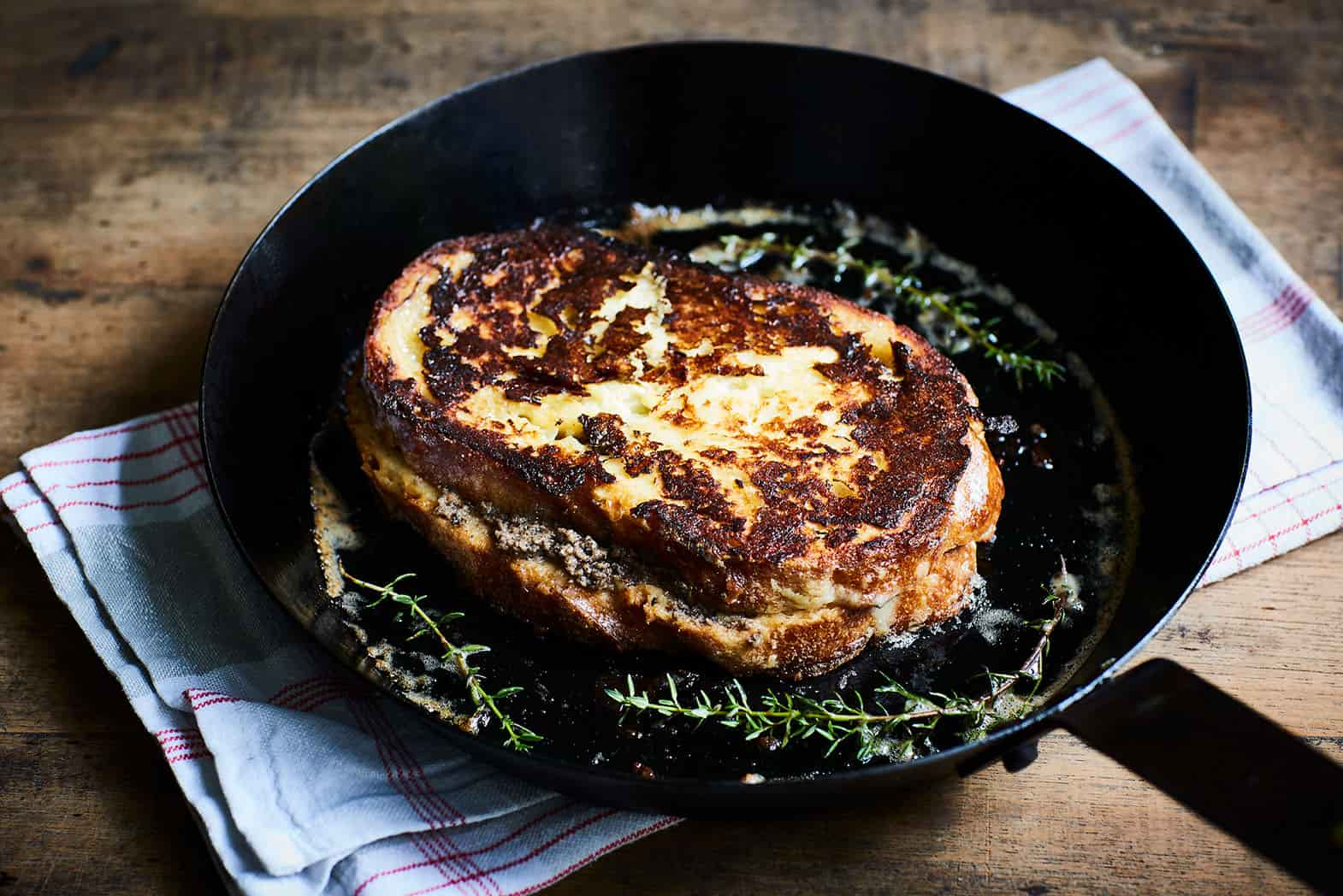 Truffled Pain Perdu Sandwich