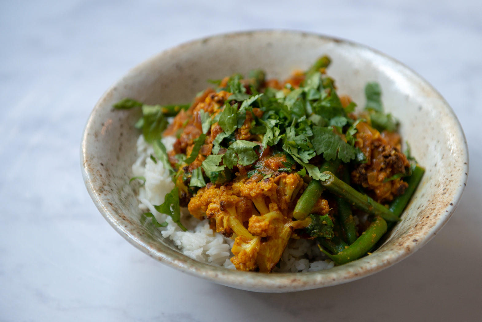 Goan Roast Cauliflower & Green Bean Curry Recipe