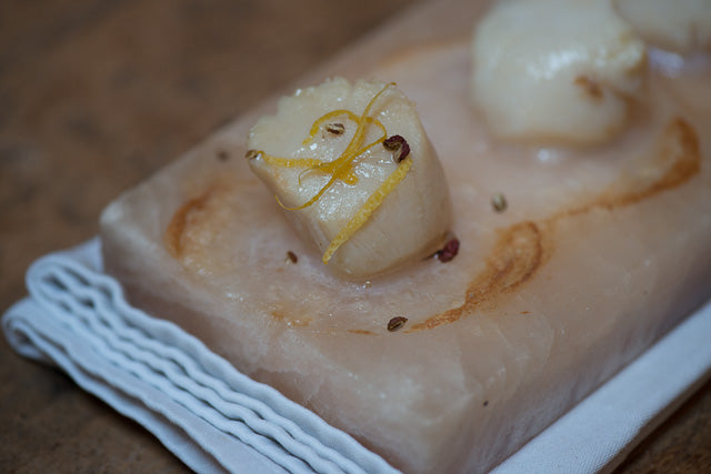 How To Cook Scallops On A Himalayan Salt Plate