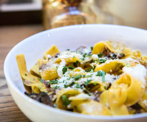 Recipe: Pasta with Mushrooms and Hazelnut Oil