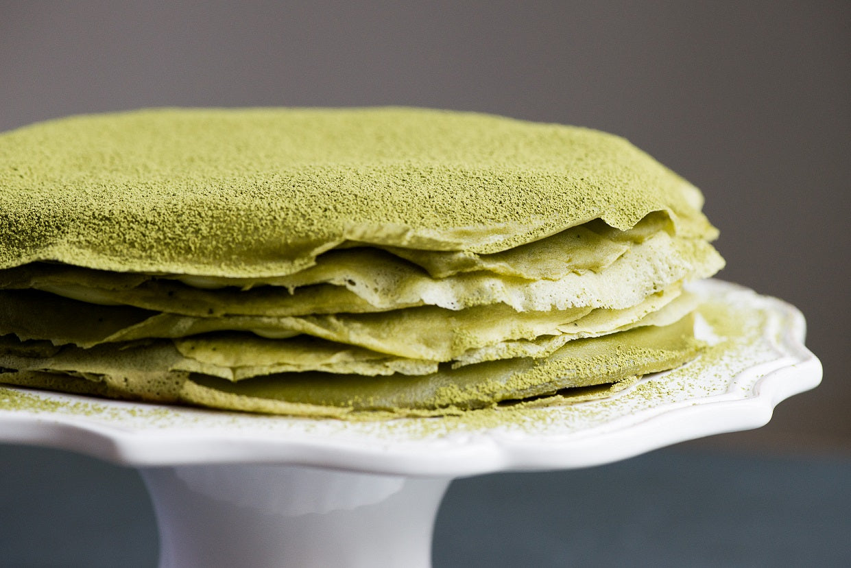 Japanese Matcha Tea Crepe Cake Recipe
