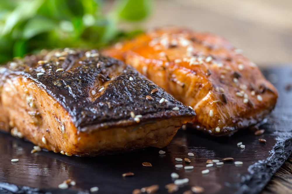 Pan-Fried Salmon With Sesame & Hazelnut Oil Recipe