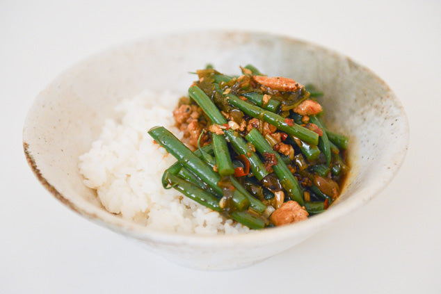 Sichuan Style Greens With Minced Pork