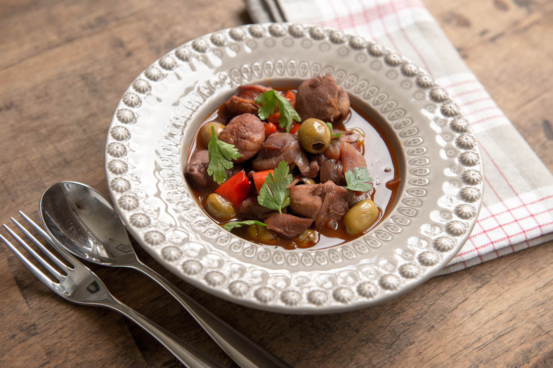 Spanish Chicken, Chorizo & Red Wine Stew Recipe