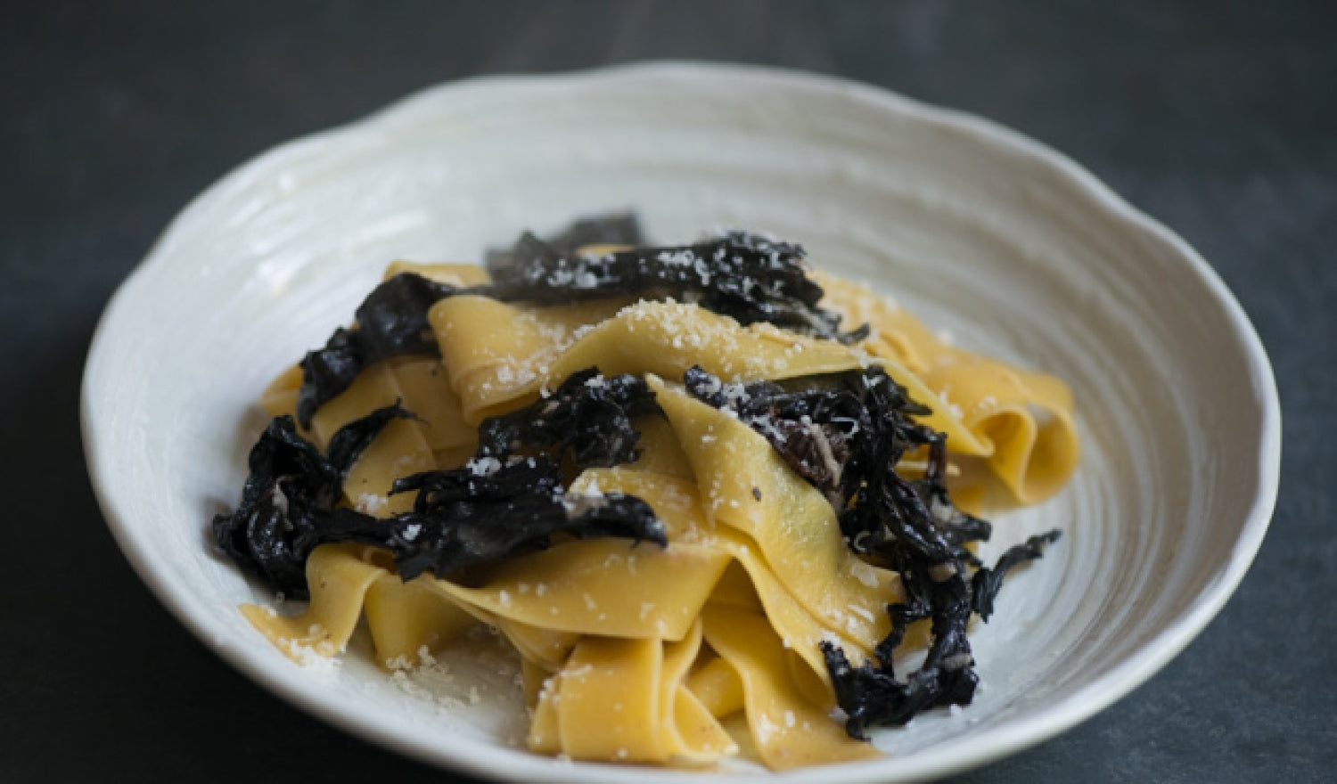 Quick Weeknight Pappardelle & Trompette Mushrooms
