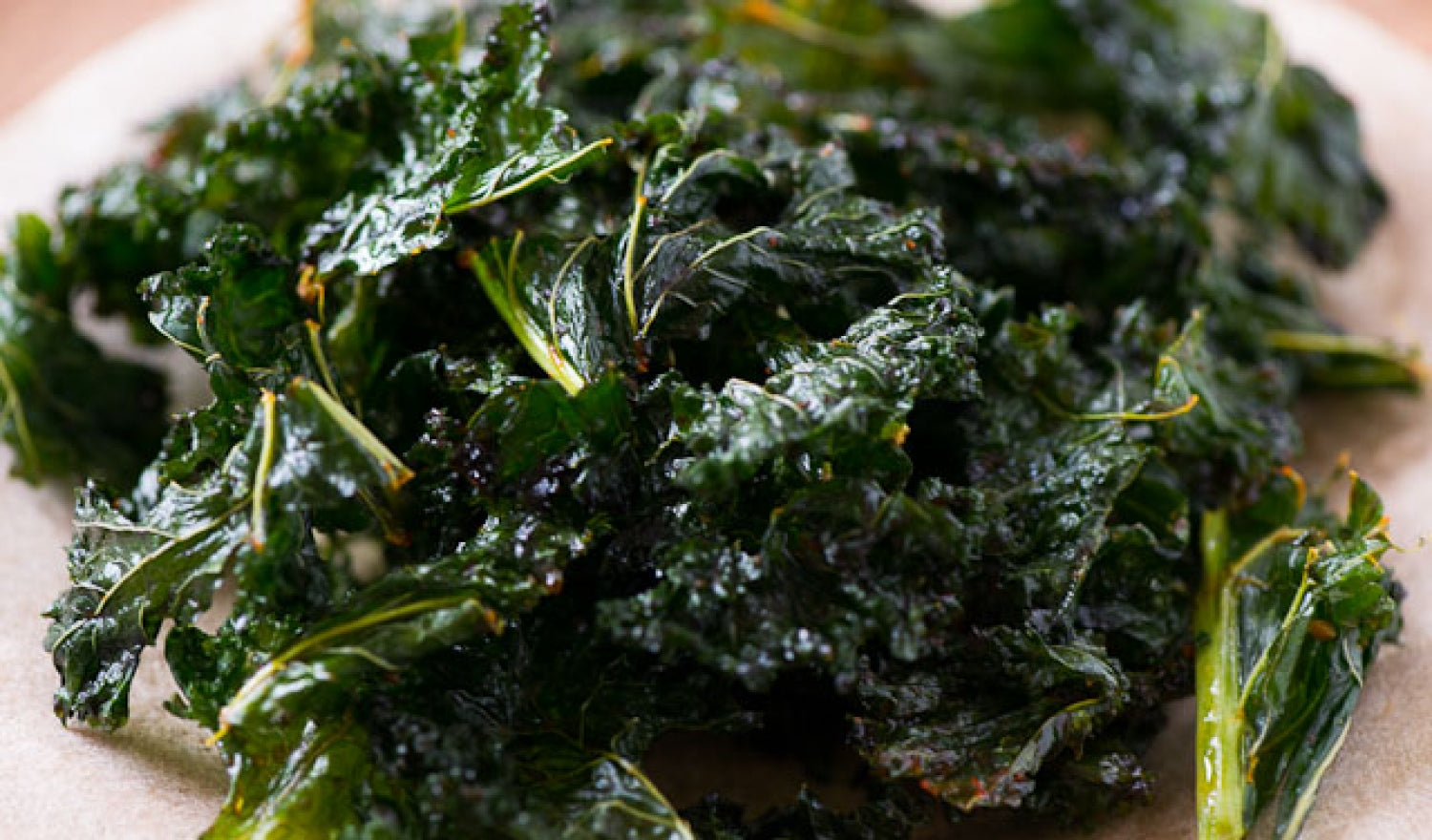 What part of kale is edible