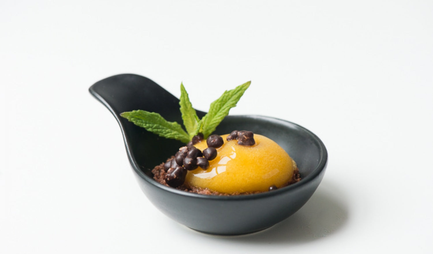 Passion Fruit Spheres With Popping Candy