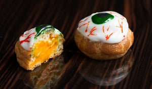 Recipe: Halloween Pumpkin Eye Ball Choux