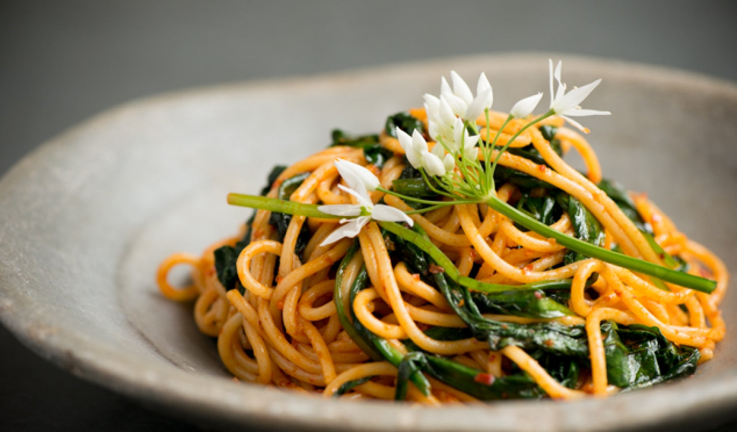 Nduja Spaghetti With Wild Garlic Recipe