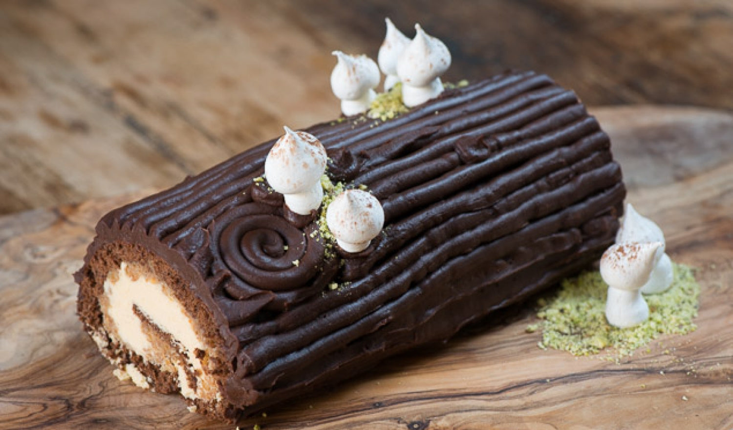 Hazelnut Yule Log Recipe