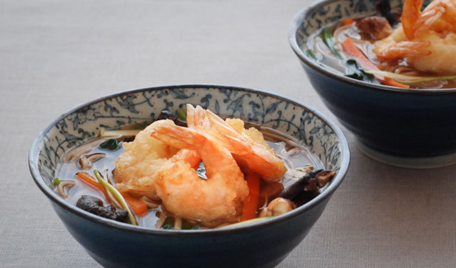 Tempura Prawn & Miso Soup Recipe With Soba Noodles