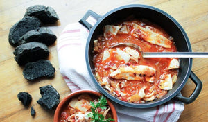Marmitako Squid Stew with Squid Ink Soda Bread