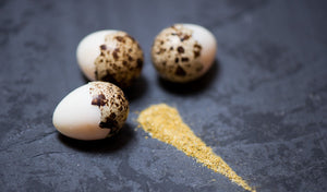 Quail's eggs with Viking Smoked Salt