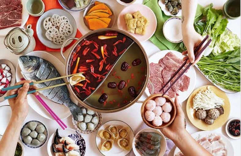 Chinese Steamboat or Hot Pot meal for Chinese New Year