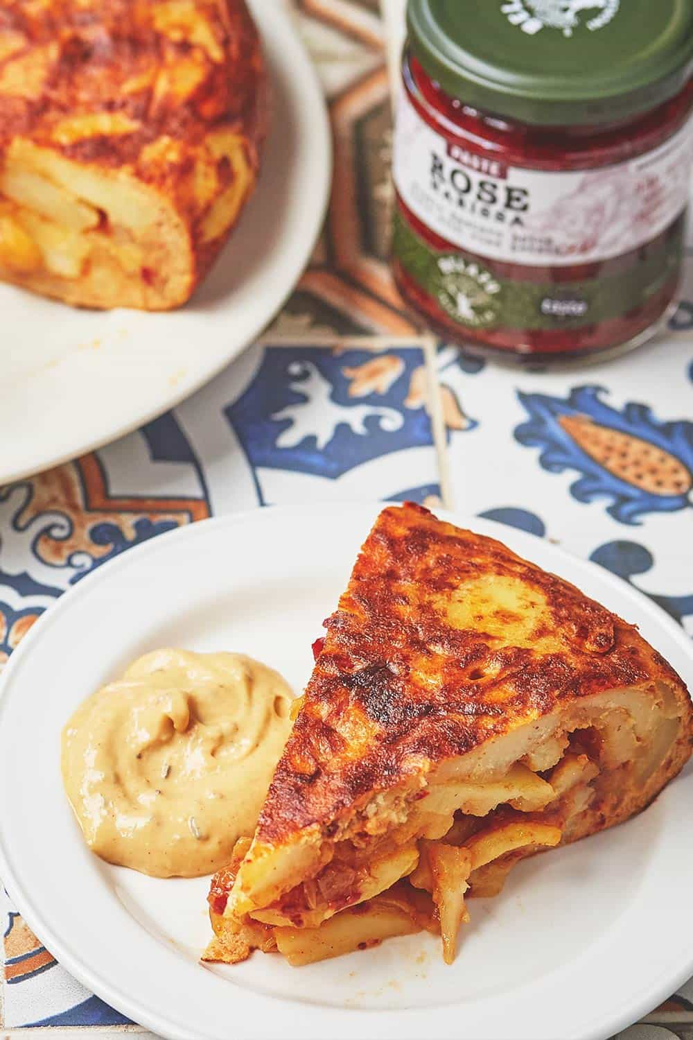 Spanish Omelette with Rose Harissa
