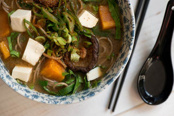 Miso Soup with Buckwheat Noodles