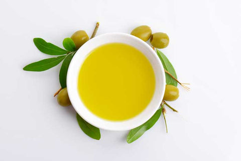 fresh olive oil is a green golden colour