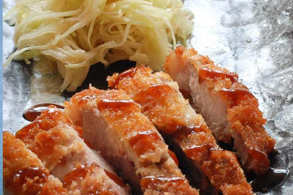 Pork Tonkatsu with Miso & Cabbage