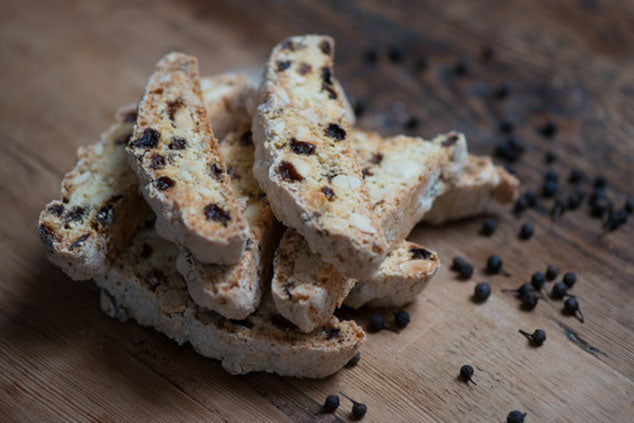 Cubeb Pepper & Raisin Biscotti Recipe