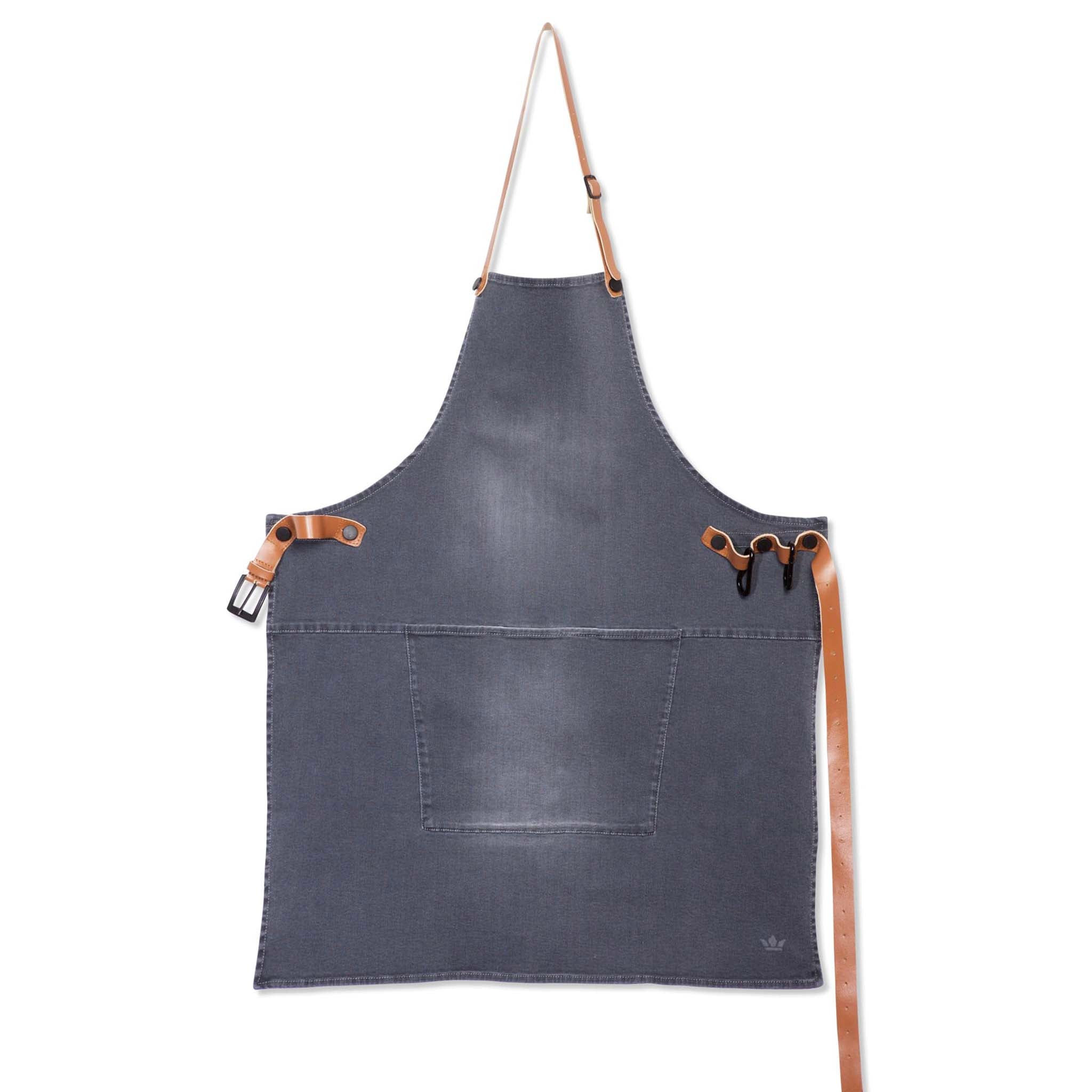 Dutchdeluxes Canvas BBQ Apron in Washed Grey Cookware Kitchen Clothing