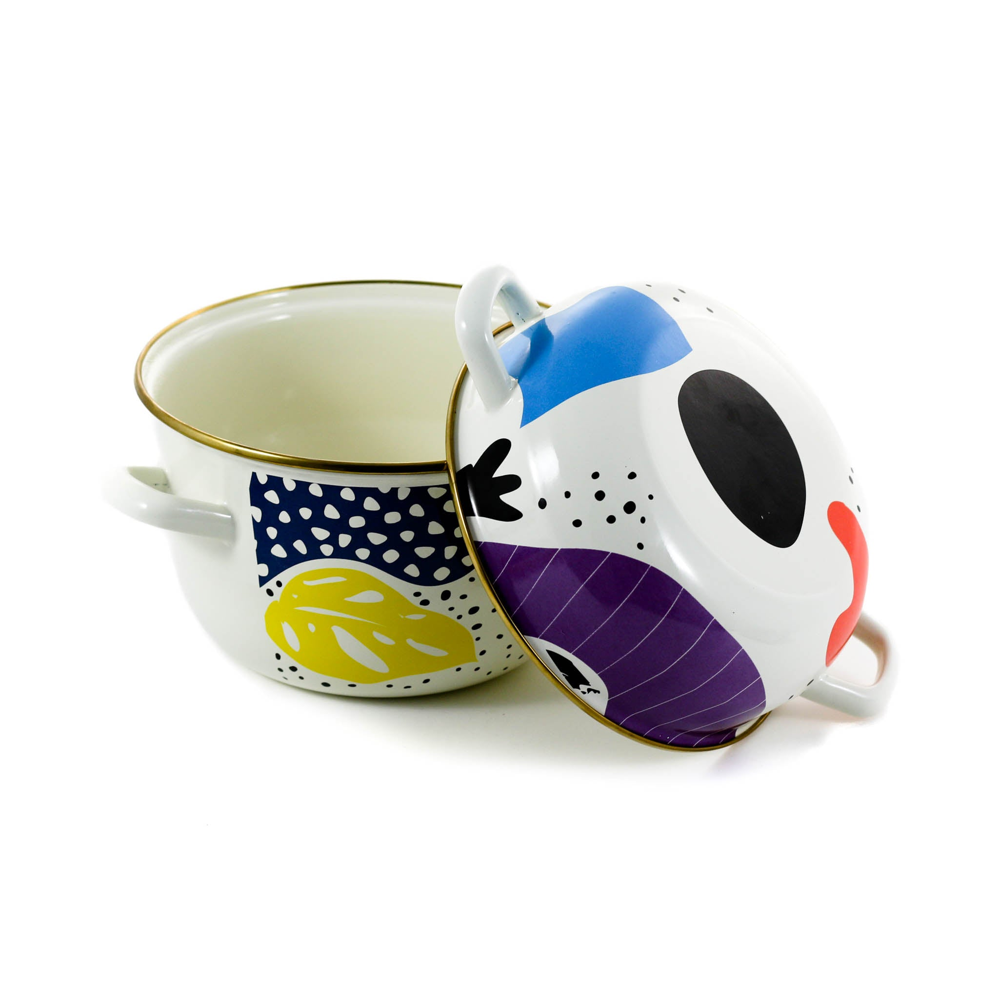 Abstract Enamel Mussel Pot